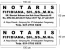 Pembuatan Papan Nama Notaris PPAT