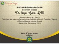 Cetak Piagam di Tangerang