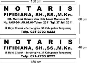 Jasa Pembuatan Plang Notaris dan PPAT